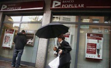 Banco Popular Español fue vendidas por 1 dólar