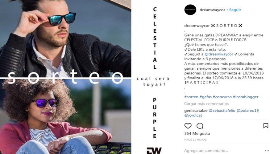 Ejemplos de concursos en Instagram